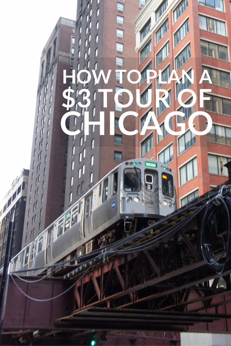 Take a three dollar tour of Chicago by hopping aboard the L to ride Chicago's loop. It's a perfect way to experience the city's sights, sounds (and smells).